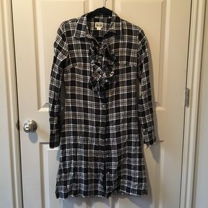 Converse Plaid Ruffle Dress